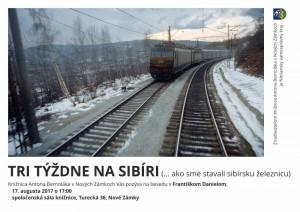 17.8.2017 – Ako sme stavali sibírsku železnicu – beseda s účastníkom brigády na Sibíri v roku 1967