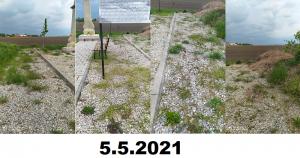 Dňa 8.5.2021 bol uskutočnený chemický postrek buriny.