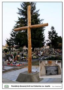 Pamätný drevený kríž v Cintoríne sv. Jozefa