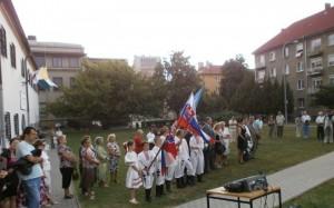 5.7.2013. Kladenie vencov pri soche Sv. Ciryla a Metoda