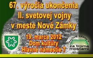 19.3.2012. 67.výročie ukončenia 2.svetovej vojny v našom meste