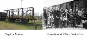 Pamätník pripomínajúci deportáciu židovských spoluobčanov