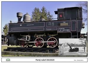 Parný rušeň 310.0123 ako Pamätník železničiarov