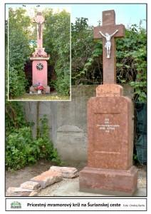 Prícestný mramorový kríž na Šurianskej ceste
