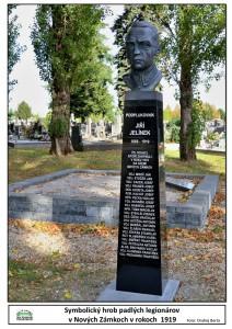 Symbolický hrob padlých legionárov na Cintoríne sv. Jozefa