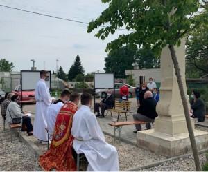 Dňa 16.5.2020 o 16:00 hod. sa uskutočnila pobožnosť u sochy sv. Jána Nepomuckého na Zúgove.